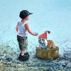 Stay! by Keith Proctor - Original Painting on Stretched Canvas sized 24x24 inches. Available from Whitewall Galleries